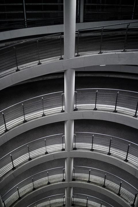 Multi Storey Car Park, Railing, Optical Deception