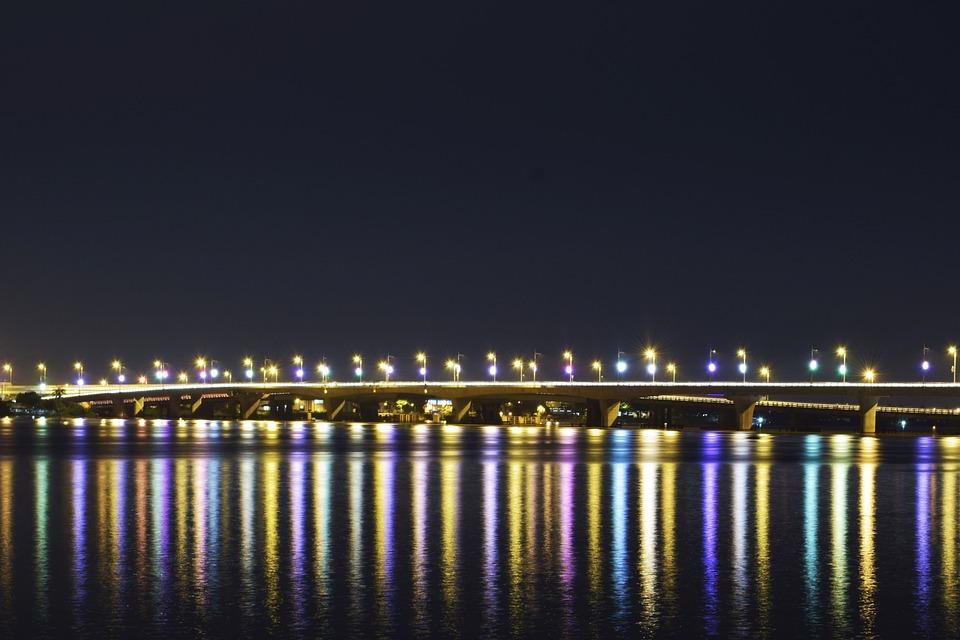 Exposure, Bridge, Light, Colorful, Multicolor