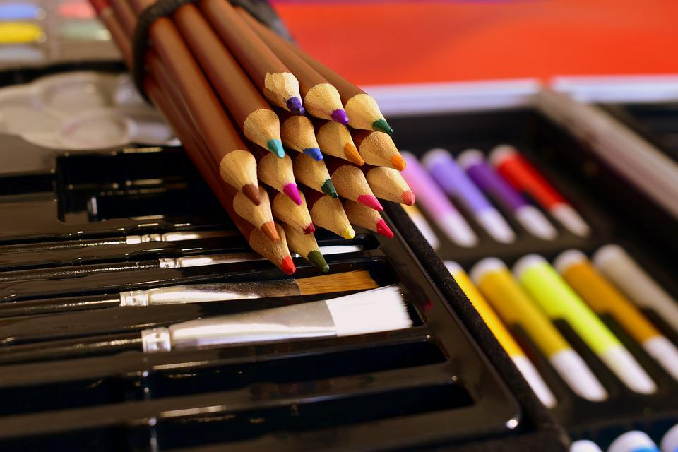 Colored Pencils, Brushes, Art, Pencils, Multicolored
