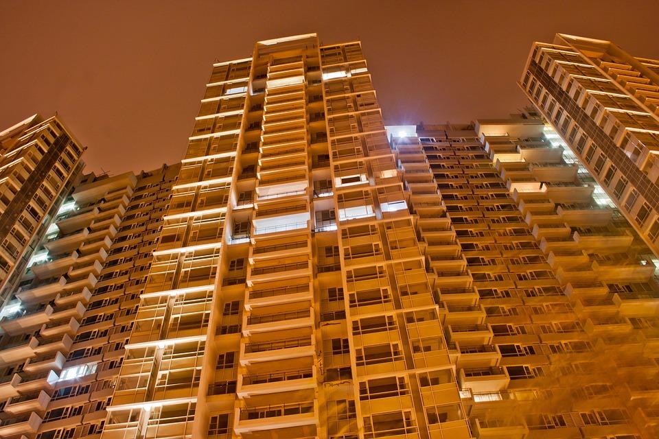 Building, Evening, Night, Lights, Mumbai, India