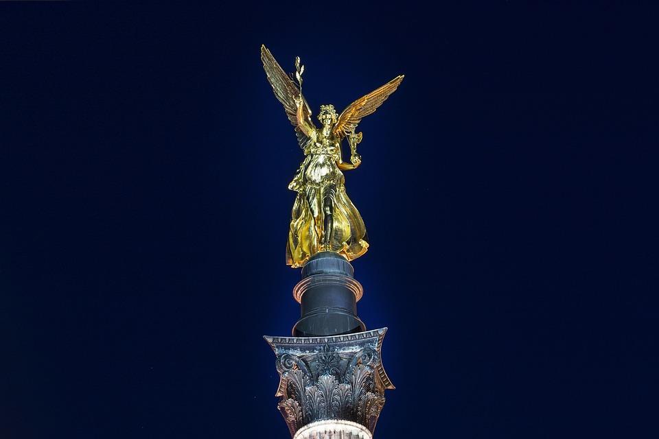Munich, Angel Of Peace, Munich Night, Blue Hour