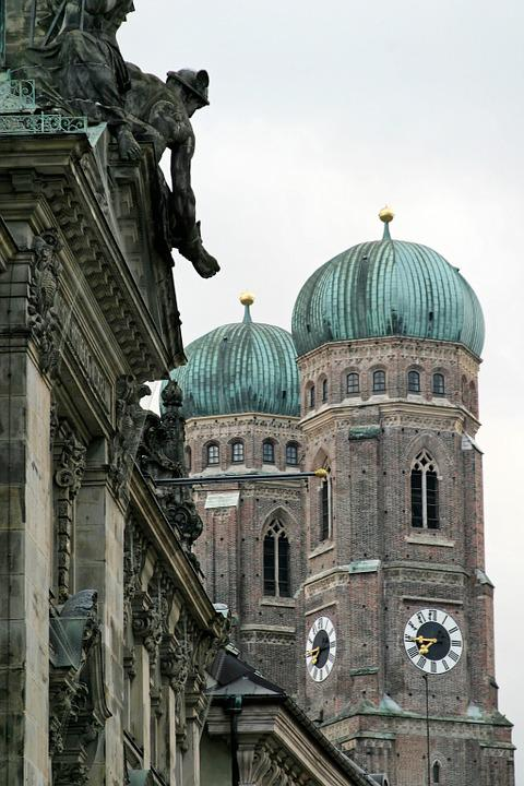 Munich, Church, Church Steeples, Architecture