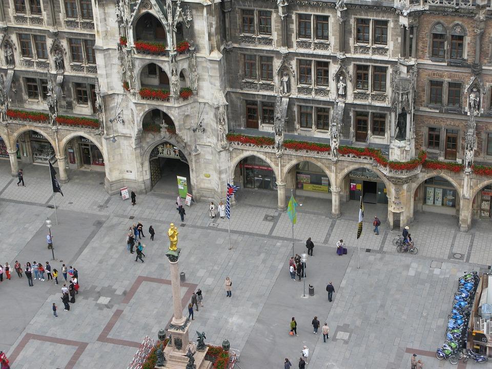 Munich, Marienplatz, City, Center