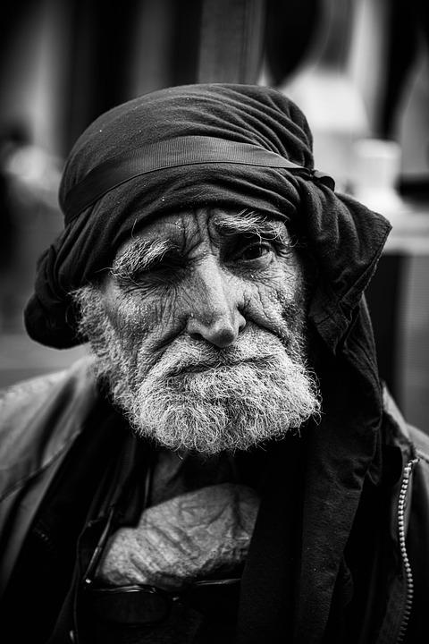 Man, Portrait, Munich, Homeless, Bavaria, Poor, Retiree