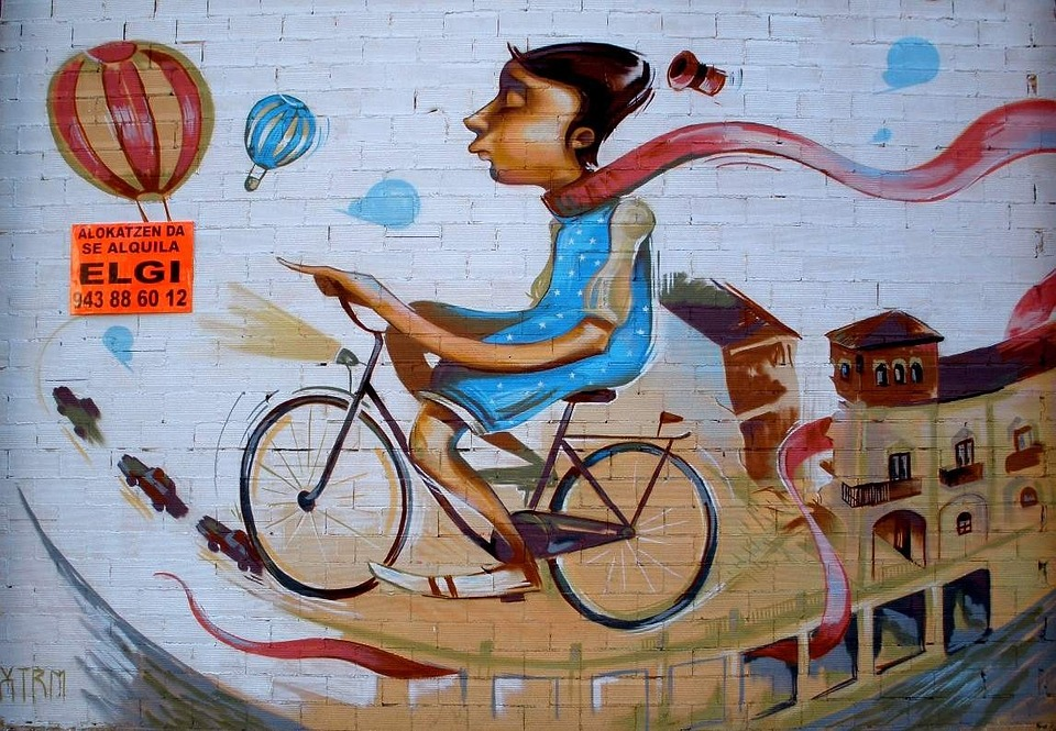 Graffiti, Biker, Person, Mural, Painting, Artwork