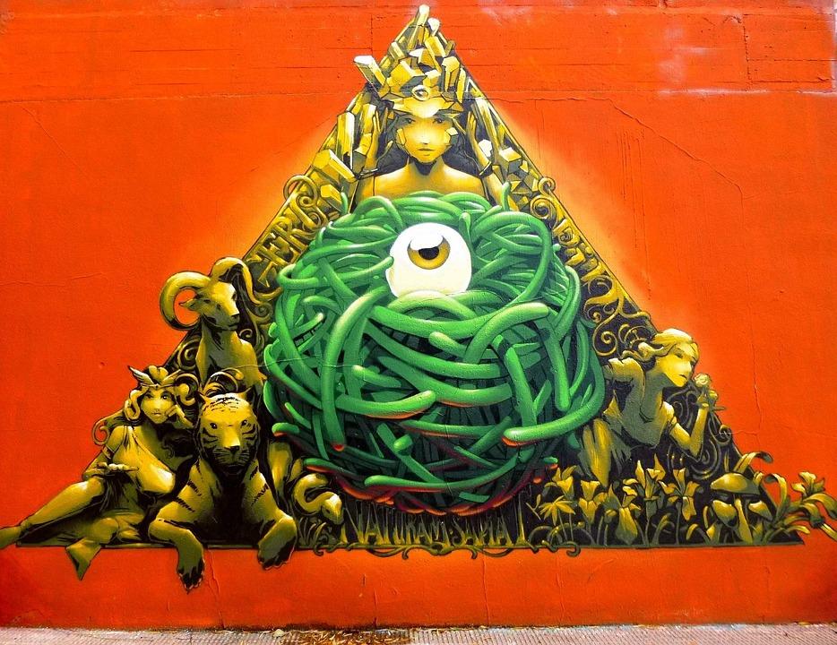 Graffiti, Barañain, Navarre, Art, Street Art, Mural