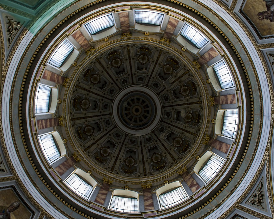 Bazilik, Esztergom, Dome, Church, Internal, Mural, Nice