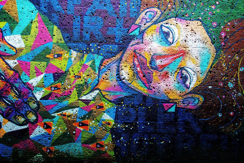 Mural, Color, Artfully, Artistically, Fantasy