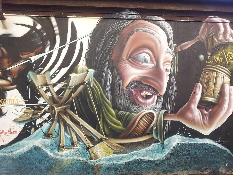 Wall, Art, Mural, Painting, Graffiti