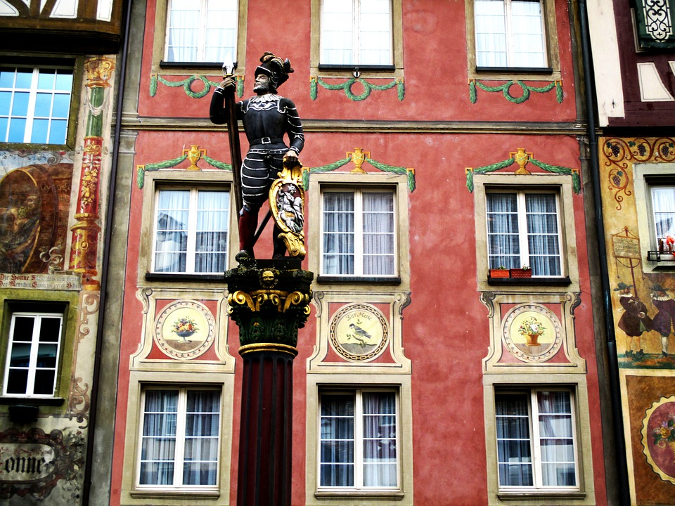 Old Town, Fountain History, Monument, Facades, Mural