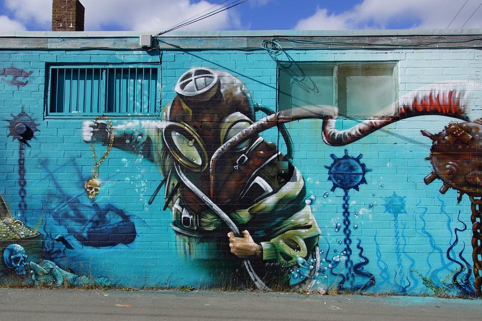 Urban Art, Mural, Building, Artwork