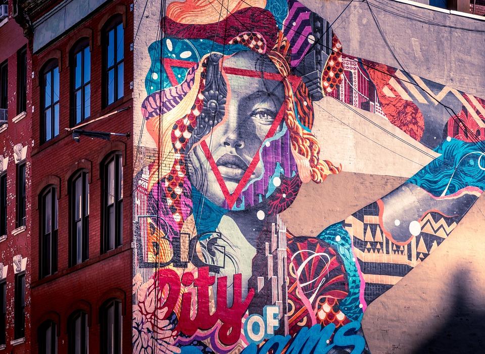 New York, Newyork, Manhattan, Architecture, Murals