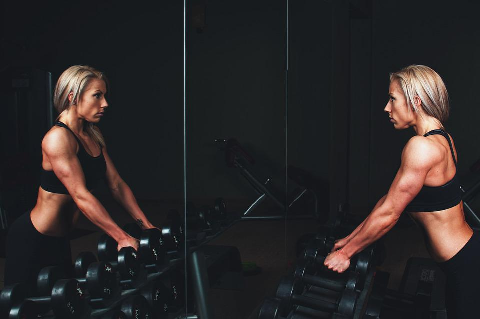 Training, Muscles, Arms, Blonde, Bar Bells, Workout