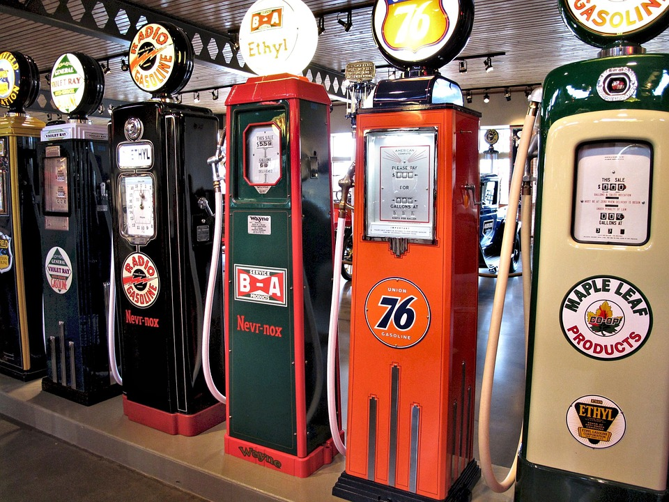 Antique Gasoline Pumps, Petrol, Museum, Canada