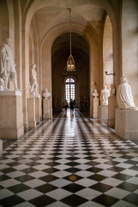 Versailles, Castle, Hall, Museum, Interior, Sculptures