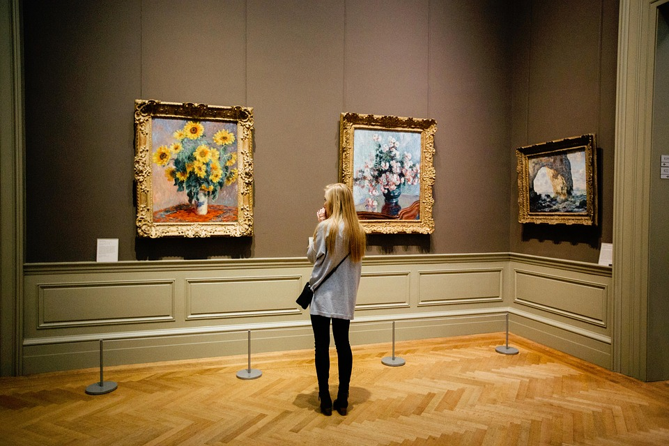 Art, Painting, Flowers, Girl, People, Places, Museum