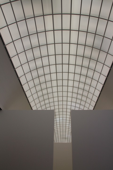 Roof, Glass Roof, Museum, Aufblick, Sky, Building