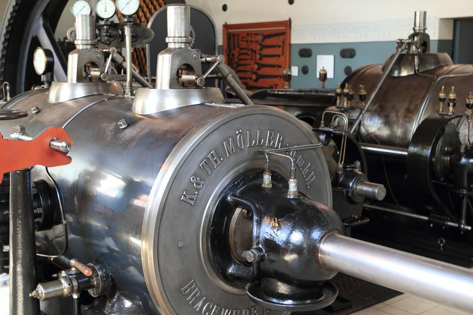Germany, Bocholt, Textile, Museum, Steam, Engine