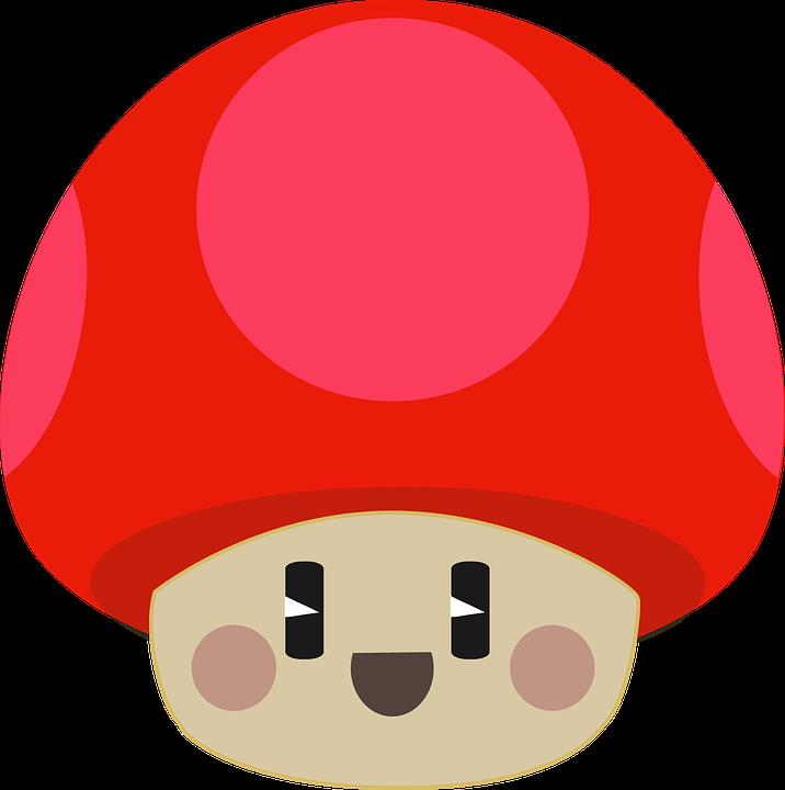 Cute, Happy, Mushroom