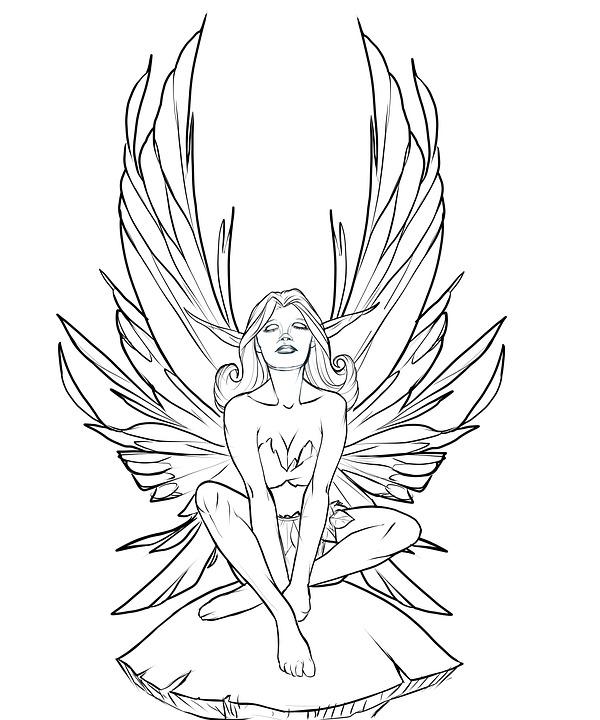 Fairy, Faerie, Mushroom, Drawing, Design, Female, Sexy