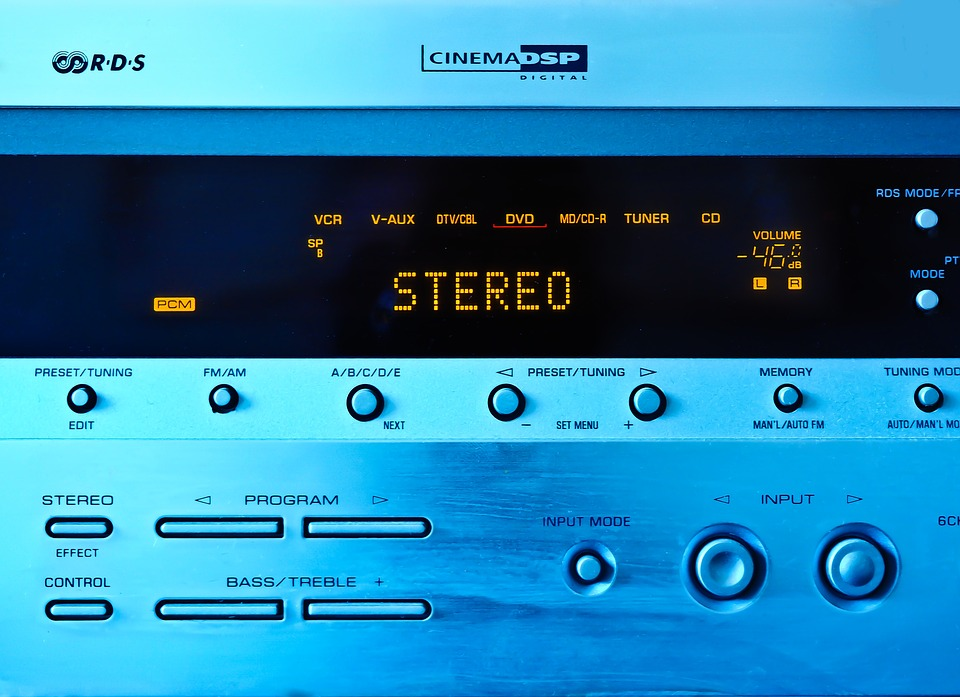 Stereo, Amplifier, Music, Volume, Audio