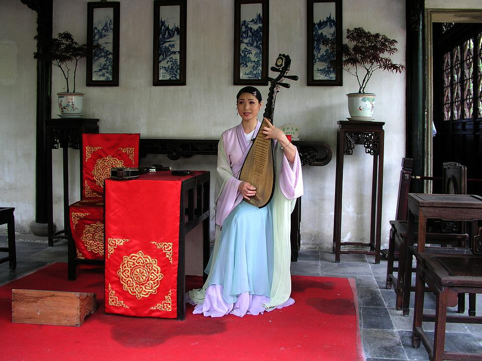 China, Music, Asian Woman, Rest, Musical Instrument