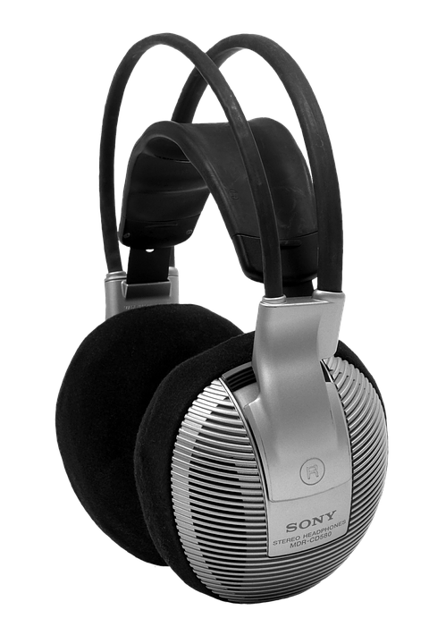 Headphones, Music, Sony, Stereo, Isolated, Cropping