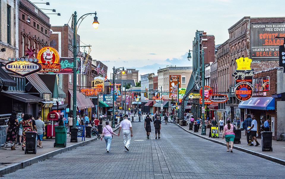 Beale Street, Memphis, Blues, Music, Hall, Dance