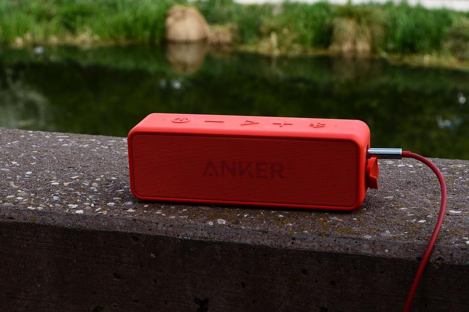 Music Box, Music, Red, Anchor, Lake, Idyllic, Enjoy