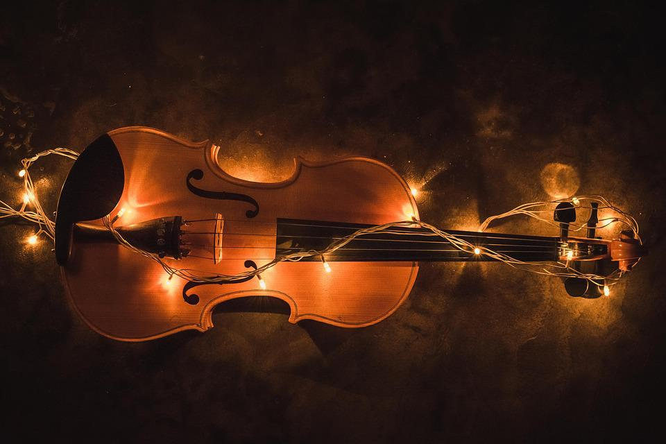 Violin Lighting Creative Music Musical Instrument