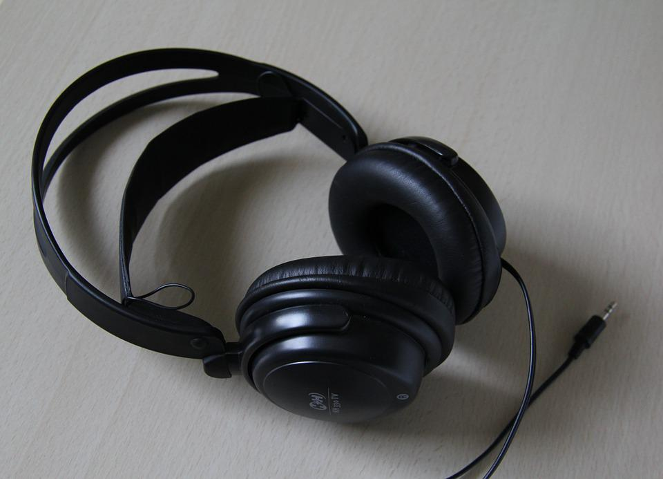 Headphones, Audio, Black, Songs, Mp3, Music