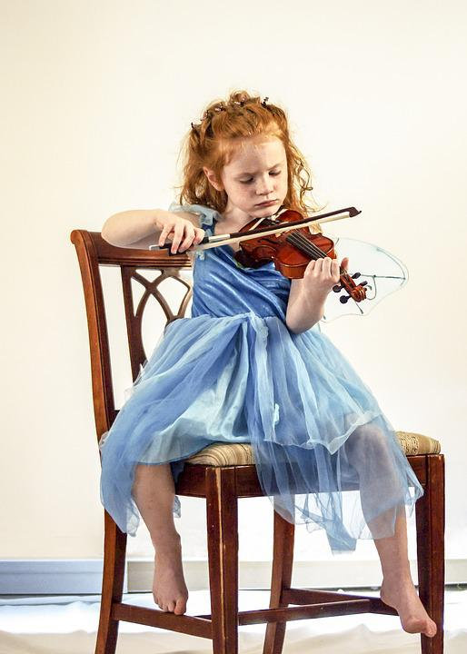 Violin, Child, Girl, Music, Instrument, Musical