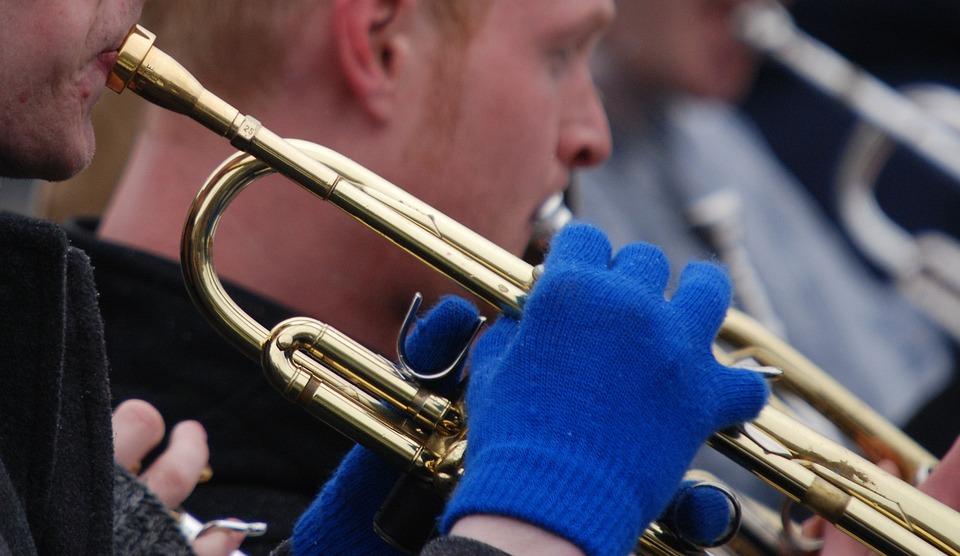 Trumpet, Musical Instrument, Music, Outdoors, Winter