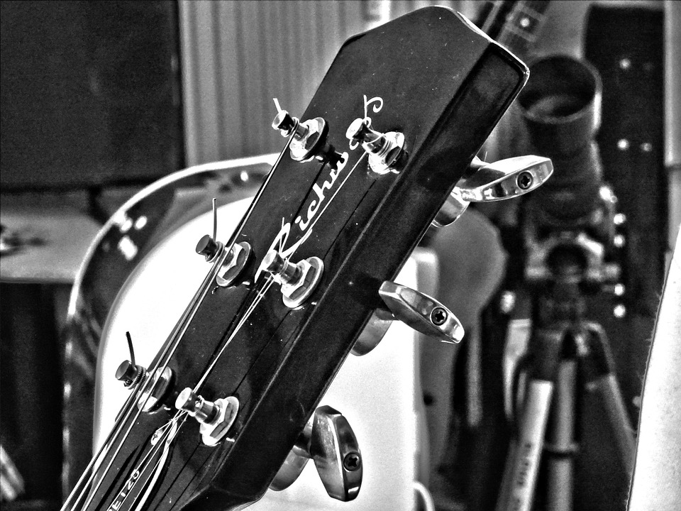 Guitar, Music, Black White, Instrument, Musician
