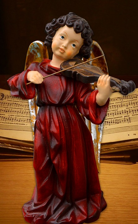 Angel, Once Notebook, Violin, Music