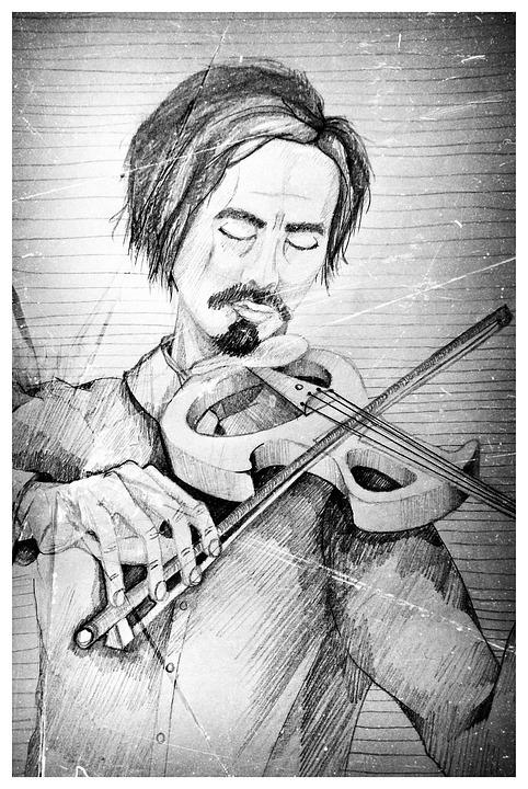 Violinist, Violin, Music, Musician, People, Portrait