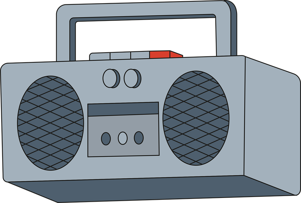 Radio, Boombox, Music Player, Tape, Sound, Retro