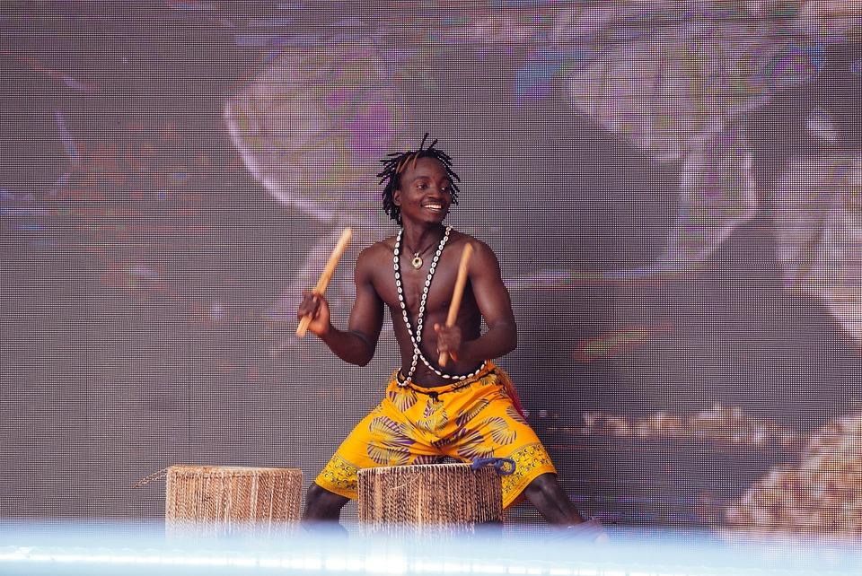 Drum, Power, African Man, Music
