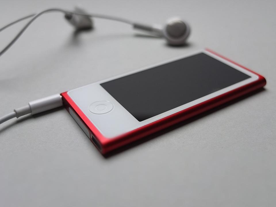 Music, Ipod, Headphones, Apple, Nano, Songs, Red, Mp3