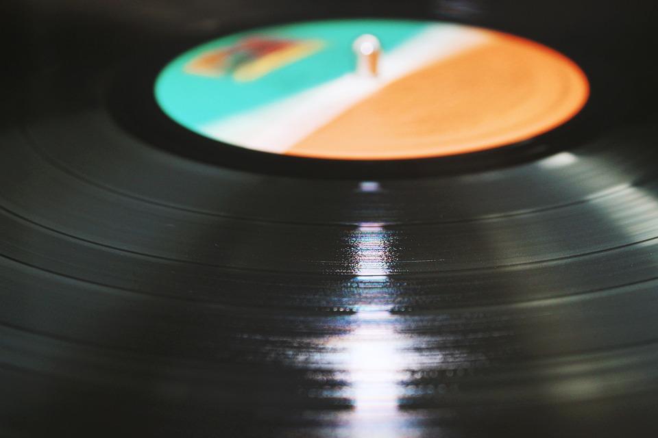 Album, Close-up, Music, Plastic, Reflection, Round