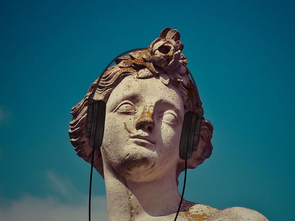 Statue, Music, Sculpture, Classic, European, Listening