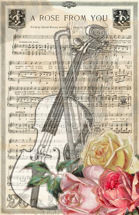 Vintage, Violin, Music, Music Sheet, Old, Grunge