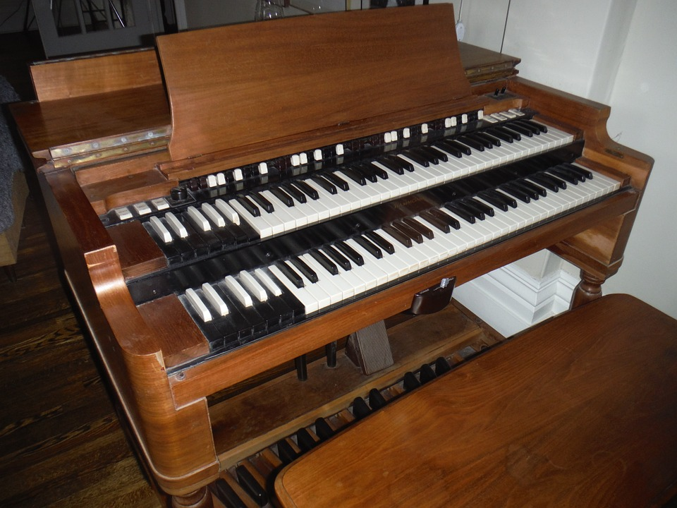 Organ, Music, Bench, Manuals, Keyboard, Music Stand