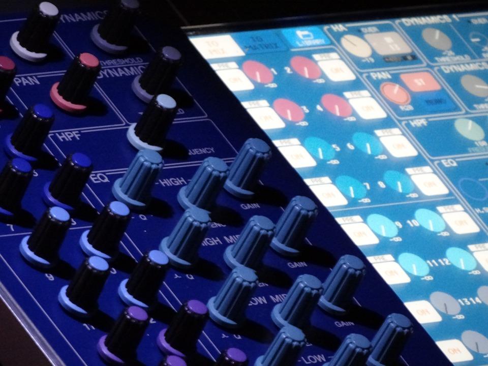 Desk, Mixer, Music Studio, Audio Equipment, Slider