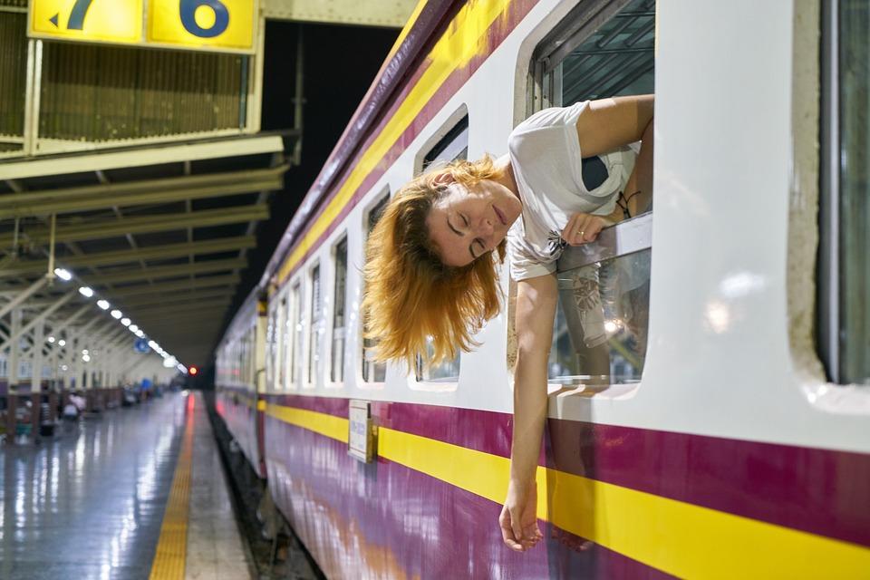 Train, Hair, Mack, Window, Tourist, Girl, Woman, Music