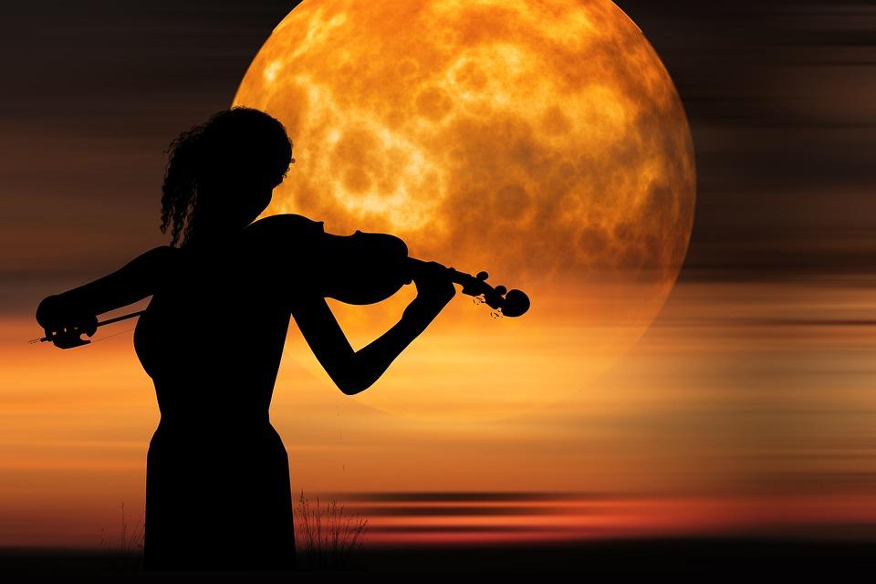 Violinist Violinist Of The Moon, Fog, Music, Sound