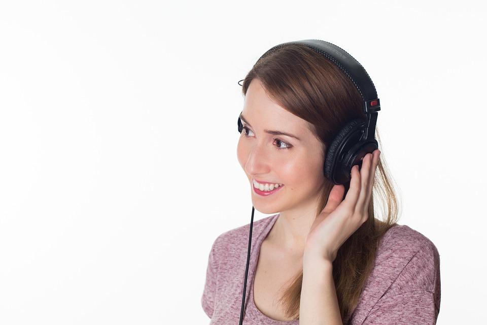 Woman, Girl, Headphones, Music, Listen To, Relaxes