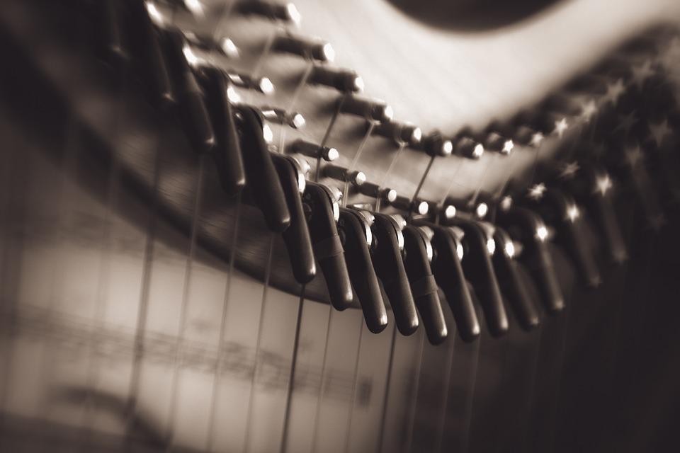 Harp, Music, Musical, Instrument, Equipment, Orchestra