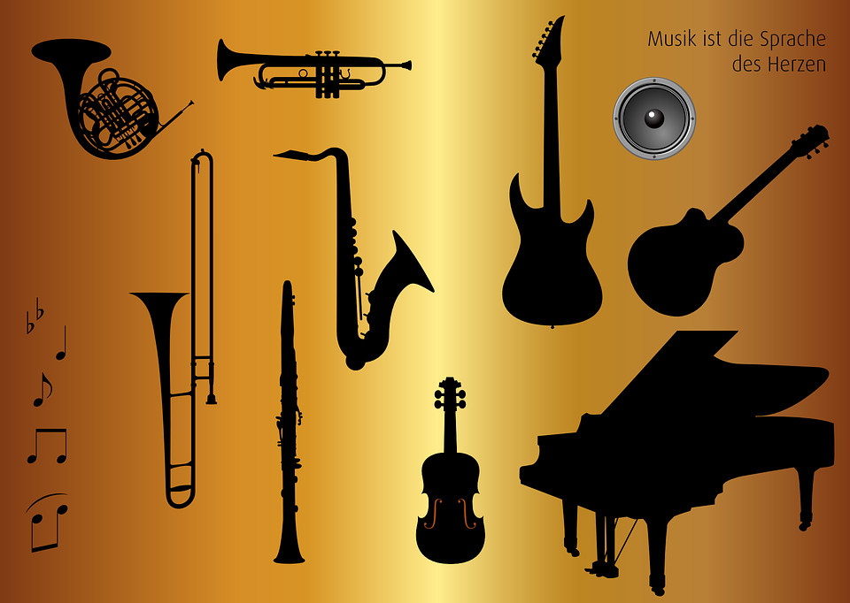 Icon Set, Musical Instruments, Music, Horn, Trombone