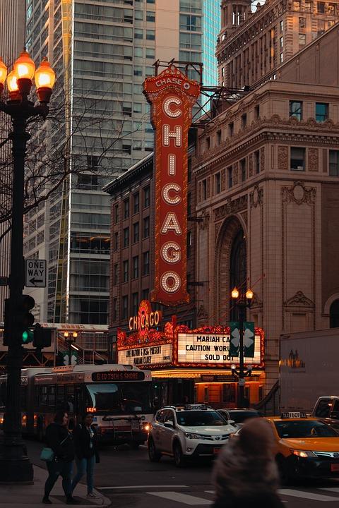 Chicago, Theatre, Light, Musical, Phone Wallpaper